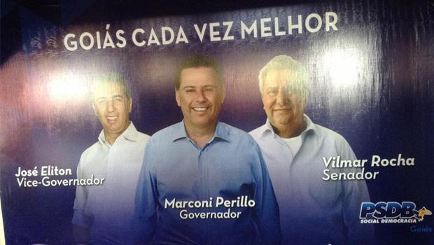 Decoração do Goiânia Arena para convenção do PSDB sinaliza chapa definida