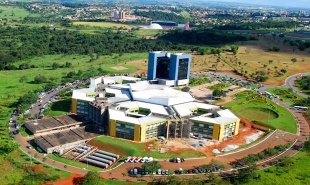 Imagem aérea da Prefeitura de Goiânia | Foto: Fernando Leite