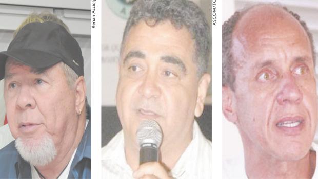 Duda Mendonça,                             Vieira de Melo  e                                        Marcus Vinícius Queiroz