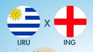 Uruguai e Inglaterra se enfrentam nesta quinta-feira em São Paulo