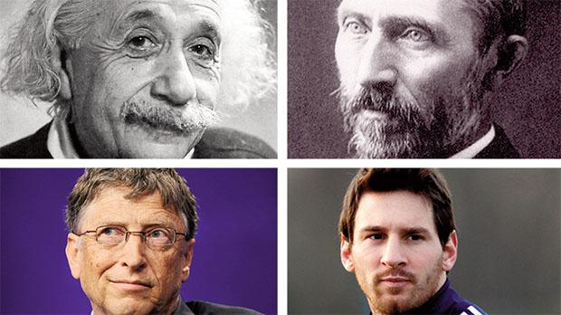 O físico Albert Einstein, o pintor Van Gogh, o criador do Windows Bill Gates e o gênio da bola Lionel Messi: separadas por séculos diferentes, seriam essas pessoas ligadas pelo autismo?