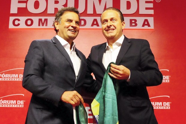 Aécio Neves e Eduardo Campos: na expectativa do impacto do futebol  | Foto: George Gianni/ PSDB