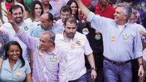 Iris Rezende e Ronaldo Caiado marcham juntos numa parceria estranha, que antes parecia impossível