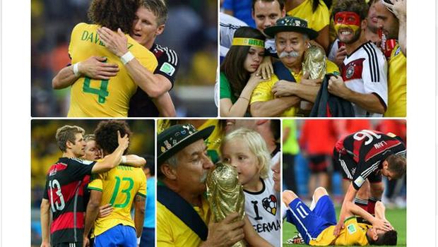 Jogadores alemães se solidarizam com os brasileiros pelas redes sociais após goleada histórica
