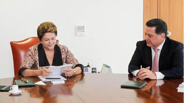 Dilma e Marconi em reunião em Brasília | Foto: Divulgação/Arquivo