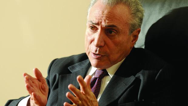 Vice-presidente Michel Temer: interesse em ter Lula na campanha do PMDB, o que choca com interesse do PT