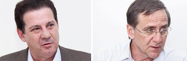 O socialista Vanderlan Cardoso e o petista Antônio Gomide: decepção na pré-campanha, eles vão continuar como coadjuvantes ou poderão crescer? | Fotos: Fernando Leite/Jornal Opção