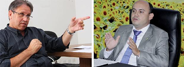 Peemedebista Marcelo Miranda e o governador Sandoval Cardoso, do SDD: os dois candidatos mais competitivos   Fotos: Fernando Leite/Jornal Opção e Koró Rocha
