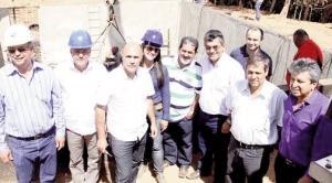 Ainda que em alerta pela falta de água, vereadores  se tranquilizam ao visitarem as obras da Saneago