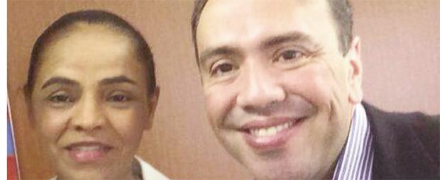 Marina Silva e Eduardo Machado: o líder do PHS acredita que a líder do PSB vai para o segundo turno já na frente de Dilma Rousseff | Foto: Arquivo pessoal