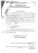Certidão de trãnsito em julgado - Tribunal de Contas dos Municípios