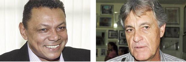 Candidato ao governo, o peemedebista Marcelo Miranda (no alto) recebeu de bom grado a adesão dos tucano Agimiro Costa (acima à esquerda) e Ernani Siqueira, ex-auxiliares de Siqueira Campos