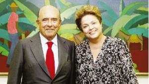 Emilio Botin, dono e presidente do Santander, e a presidente Dilma Rousseff: negócios são mais importantes do que a correção ética?