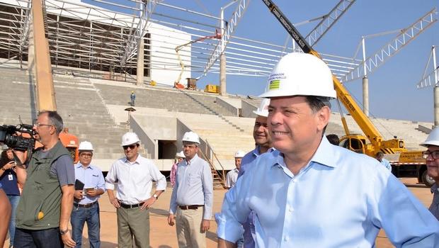 Marconi Perillo vistoria Centro de Excelência do Esporte e rebate críticas da oposição