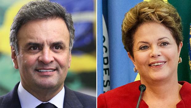 Nova pesquisa aponta vantagem de 13% de Aécio Neves sobre Dilma Rousseff