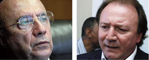 Henrique Meirelles, executivo internacional, e Júnior Friboi, empresário que construiu um império econômico-financeiro no grupo JBS: vítimas da agressiva política de não-renovação de Iris Rezende