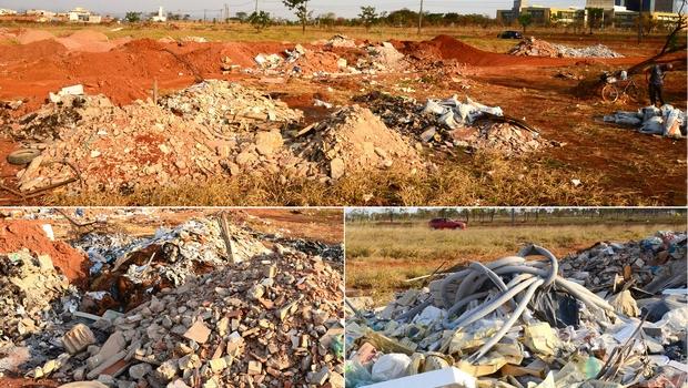 MPGO investiga despejo irregular de resíduos em área vizinha ao Paço Municipal