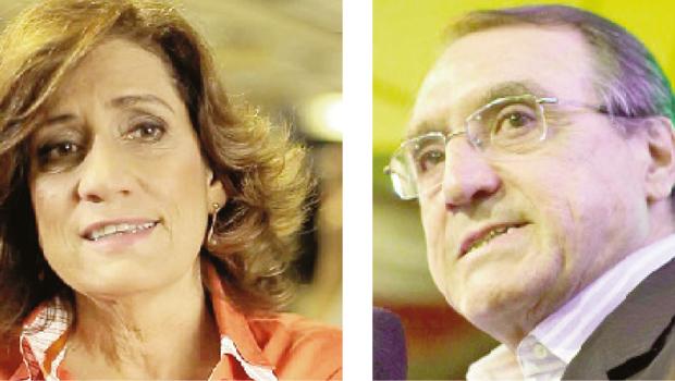 Miriam Leitão e Carlos Alberto Sardenberg: perfis alterados em computador da Presidência da República   Foto: Fotos: Divulgação