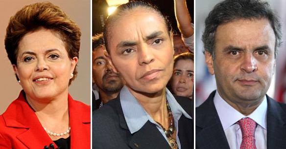 Datafolha: Dilma fica com 44% dos votos válidos, Aécio, 26% e Marina, 24%