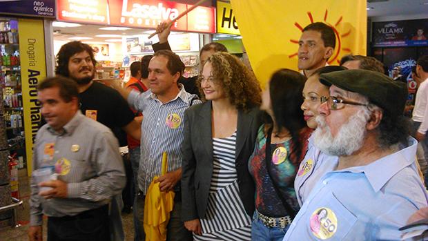 Em Goiânia, presidenciável Luciana Genro defende federalização da Celg