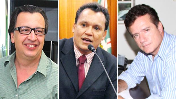 Alexandre Magalhães (PSDC, à esquerda), Felizberto Tavares (PT) e Alsueres Mariano (PSB) apoiam reeleição do governador | Fotos: Reprodução e Jornal Opção
