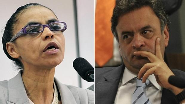 Aliados de Marina Silva defendem apoio a Aécio Neves no segundo turno