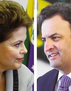 Dilma Rousseff e Aécio Neves: a petista e o tucano travam uma guerra brutal no segundo turno. Blogs e redes sociais estão sendo usados para desqualificar os adversários. A vida pessoal passa a ser pública em um jogo pesado pelo poder