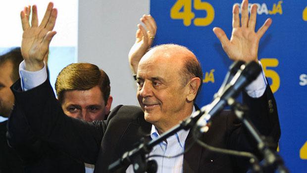 José Serra participa de caminhada em Anápolis ao lado de Marconi Perillo