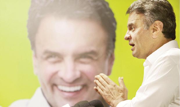 Senador Aécio Neves: diferença pequena de votos na disputa com Dilma Rousseff o credencia a ser o porta-voz da oposição   Orlando Brito/ PSDB