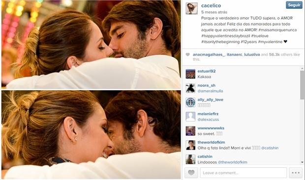 Foto postada por Carol, no Dia dos Namorados (foto: reprodução/Instagram)