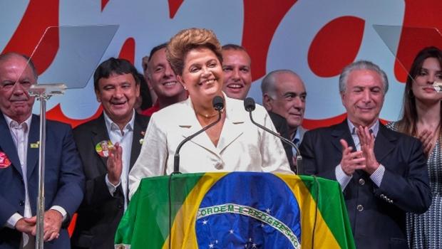 Presidente Dilma Rousseff faz pronunciamento da vitória (Foto: Cade Gomes)