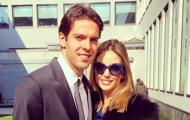 Kaká e Carol em Milão (Foto: reprodução/Instagram)