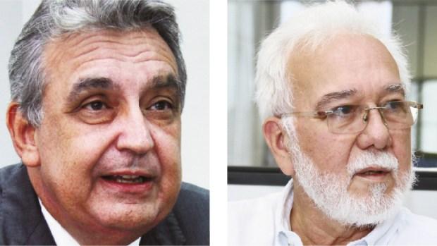 Ex-presidente da Amma Clarismino Júnior (à esq.) e coordenador do Puama, Nelcivone Melo: opiniões distintas em relação às desapropriações