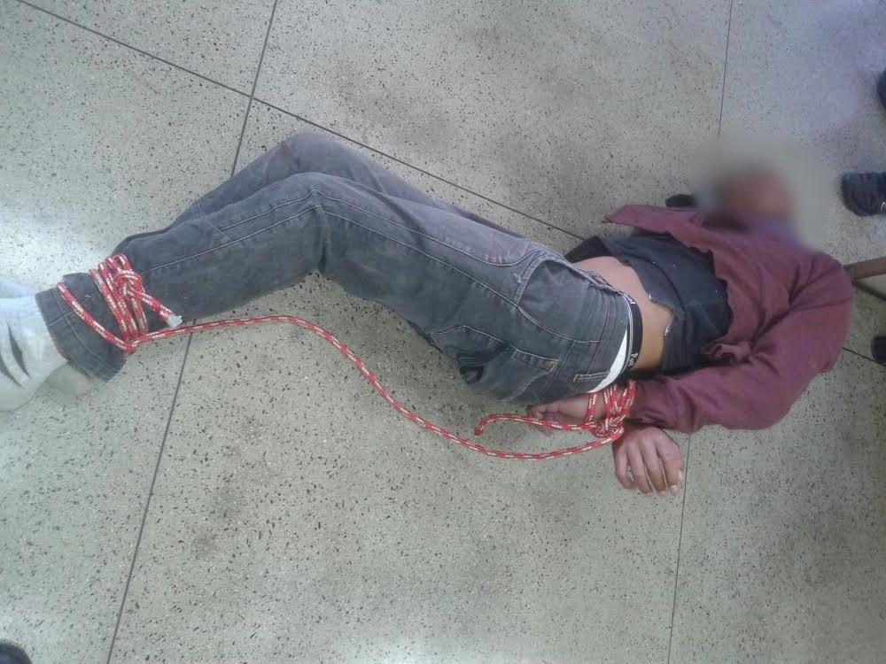 Menor é agredido e detido por populares após tentativa de roubo na Capital