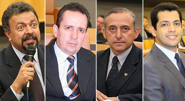 Quatro principais nomes da oposição  estiveram ausentes em eventos relevantes   Fotos: Reprodução/Câmara de Vereadores de Goiânia