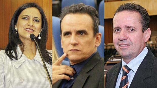 Nomes para a Presidência da Câmara Municipal de Goiânia já começam a aparecer: Célia Valadão (PMDB), Zander Fábio (PSL) e Geovani Antônio (PSDB) (Fotos: Alberto Maia / Câmara)