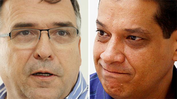 Deputados Sandro Mabel (esquerda) e Armando Vergílio querem a vice em 2016