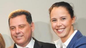 Governador Marconi Perillo e a jornalista Patrícia Moraes | Foto: Renan Accioly
