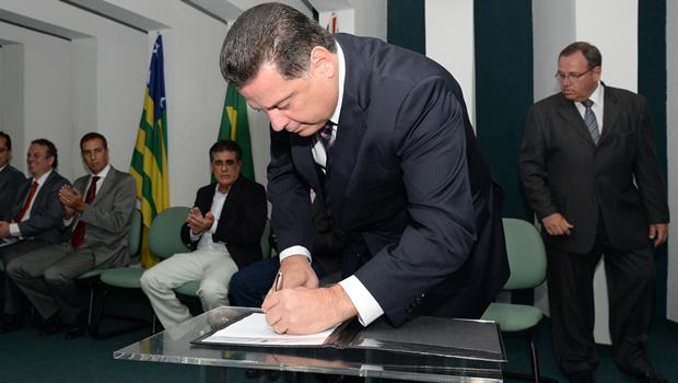 """Governador Marconi Perillo: """"A ampliação é o resgate de uma demanda e de um direito de alunos que reivindicam este projeto há muitos anos"""" / Foto: Wagnas Cabral"""