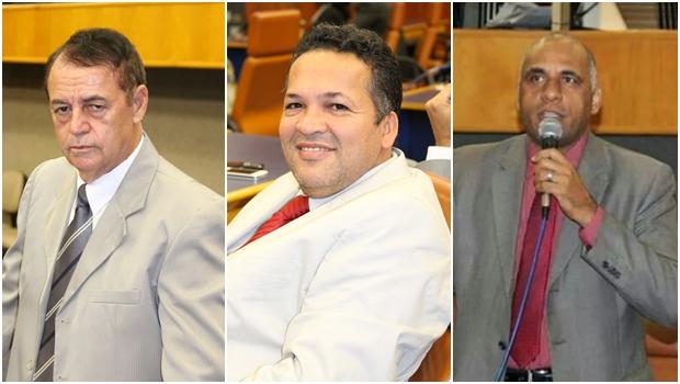 Vereadores Bernardo do Cais (PSC), Divino Rodrigues (Pros) e Rogério Cruz (PRB) | Fotos: Câmara Municipal / Site Oficial