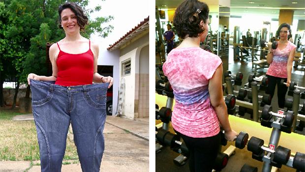 Denise de Oliveira perdeu cerca  de 80 kg após a cirurgia bariátrica  ! Fotos: Fotos: Fernando Leite/jornal Opção