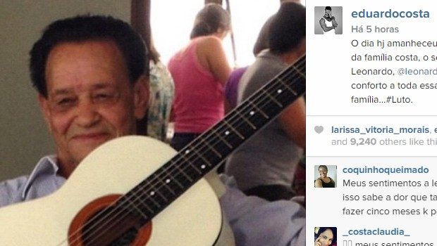 Governador Marconi Perillo e artistas lamentam morte de Avelino Costa, pai do cantor Leonardo