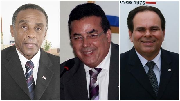 Candidatos Sebastião Macalé, Enil Henrique e Alexandre Caiado | Fotos: Fernando Leite e reprodução / Facebook