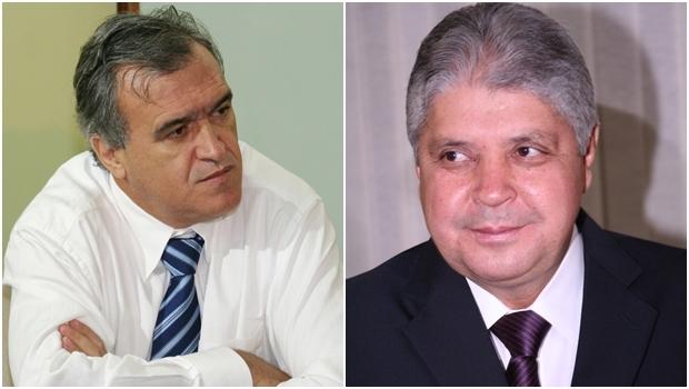 Ex-secretário da Fazenda, Jorcelino Braga, e ex-governador, Alcides Rodrigues / Foto: Edilson Pelikano