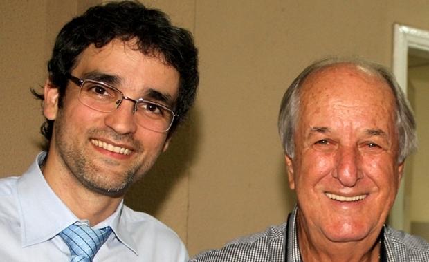 Procurador Fernando Iunes e deputado Mané de Oliveira na Apeg   Foto: Leoiran