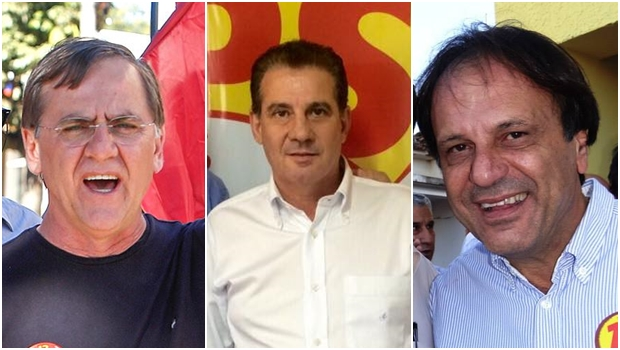 Ex-prefeitos Antônio Gomide (Anápolis) e Vanderlan Cardoso (Senador Canedo), deputado estadual eleito Adib Elias (PMDB) | Fotos: reprodução / Facebook