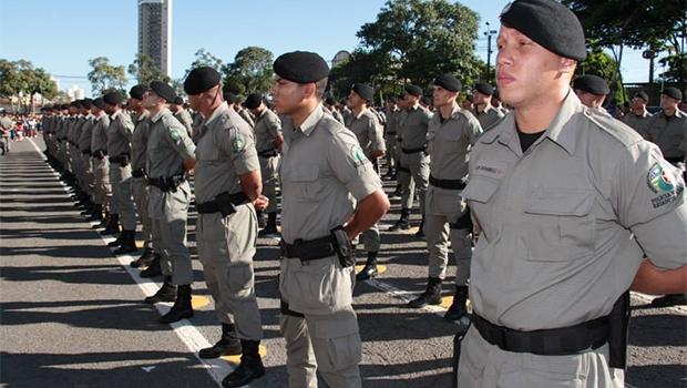330 novos PMs foram formados em cerimônia na academia de polícia   Foto: Divulgação/PMGO