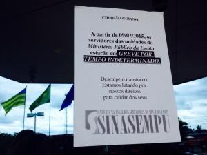 Trabalhadores estão em greve desde quarta-feira | Foto: Reprodução/MPF-GO