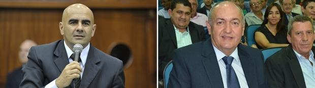 Paulo Cezar Martins (esquerda) poderá, de novo, disputar em Quirinópolis; Prefeito Odair Resende quer novo mandato na cidade   Fotos: Denise Xavier/Alego e Reprodução