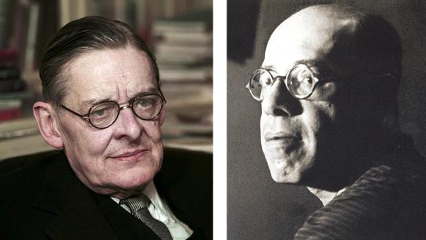 """T. S. Eliot e Mário de Andrade: crítico inglês percebe o livro """"Pauliceia Desvairada"""", do segundo, como a versão brasileira do poema """"A Terra Devastada"""", do primeiro l Fotos: Wikipédia"""